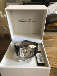 Kenneth Cole watch- BRAND NEW- GENUINE LEATHER