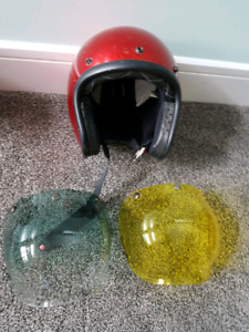 Motorcycle helmet and shields