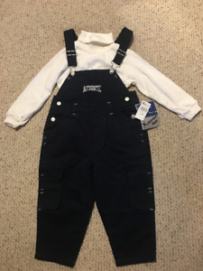 """New """"Boys Club""""  Cover-all Pants and Turtle Neck for 2 yr Old"""