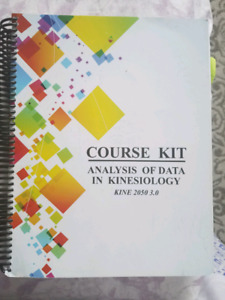 Kine 2050 textbook and lab book