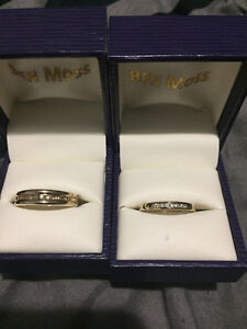 His and hers gold rings