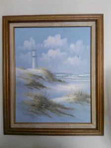 Original signed painting if lighthouse