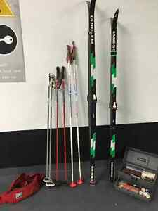 Cross country skis and poles and gear