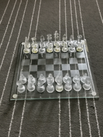Chess Game Board glass made.