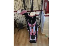 Golf girl pink with accessories