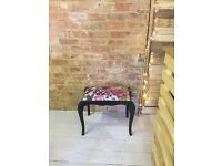 Antique vintage style stools seats black, blue and purple (dressing table)