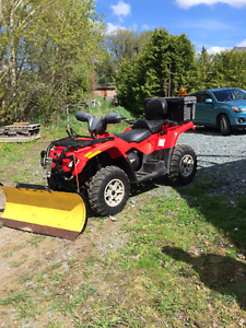 4 Wheeler for sale , BRP  Outlander 400 MAX XT, with plow