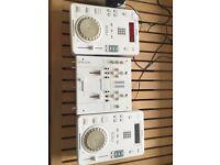 Gemini ICDJ DJ decks and ipmx mixer