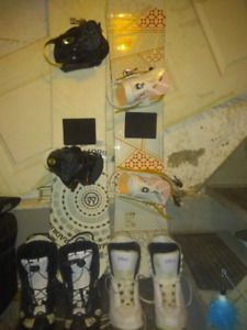 Great deal 2 snowboards boots and all