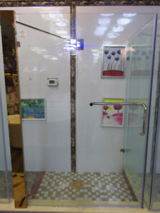 inside and outside Shower Doors!!! ( W48 x H73 x D34 inch)