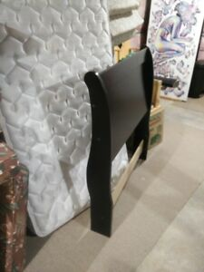 Wooden sliegh style bed