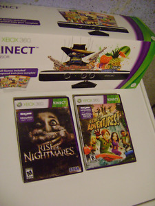 Xbox 360 Kinect with 2 Games