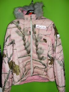 FXR - Ladies Pink / REALTREE - Puff Jacket - Size 12 at RE-GEAR