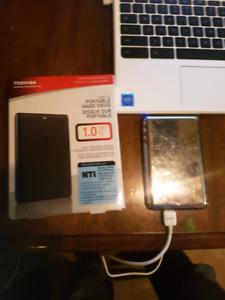 1TB Toshiba USB 3.0 HDD. Slightly used.