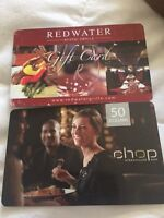 2 restaurants gift cards chops and red water rustic grill