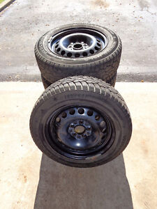4 HERCULES HSI-S 195/60R15 88T Winter Tires on Rims