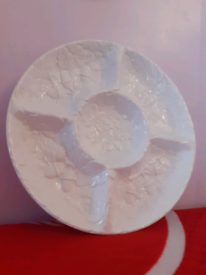 Large Portuguese Ceramic Chip And Dip