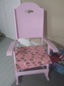 Light pink rocking chair