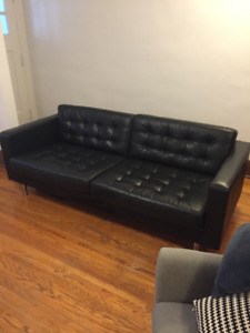 Ikea Leather Couch Landskrona
