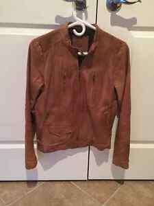 Banana Republic Walnut Brown Leather Jacket Kitchener / Waterloo Kitchener Area image 1