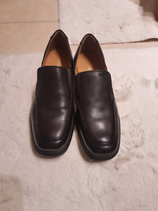 Black Leather Geox Dress Shoes