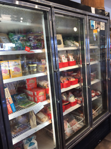 Commercial 3 glass door freezer for sale
