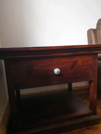 Solid wood lamp table / bed side table.