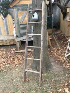 Antique vintage Orchard wood ladder