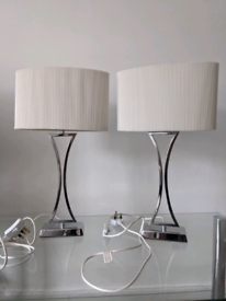BEAUTIFUL BED SIDE LAMPS (SET OF 2)