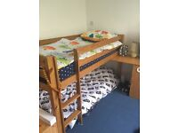 Kids Midi Sleeper Bunk Bed with pull out Desk