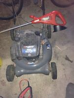 Lawnmower and Trimmer (chargeable )