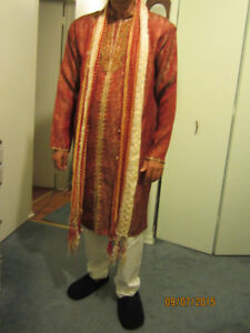 Men's Indian Wedding Groom Dress (Sherwani)