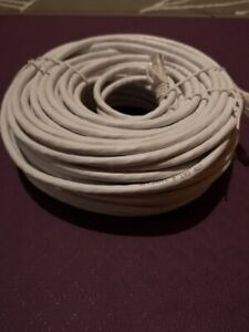 100 feet / 30 meters Ethernet cable cat 6 white