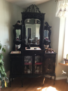 Antique what-not cabinet. Beautiful piece of furniture