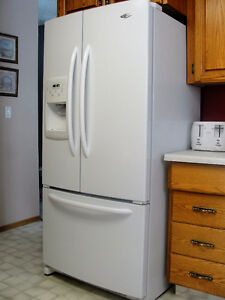 MAYTAG Fridge and WHIRLPOOL stove