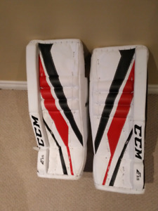 CCM E3.5 junior goalie pads 24+1""