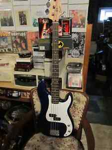 Fender Squire Bass and Amp