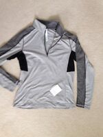NWT MENS LARGE LULULEMON CORE 1/2 ZIP SPECIAL EDITION SILVER