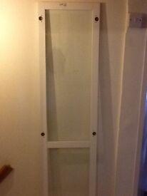 IKEA white glass Billy doors x3