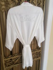Bride silk robe from Victoria's Secret
