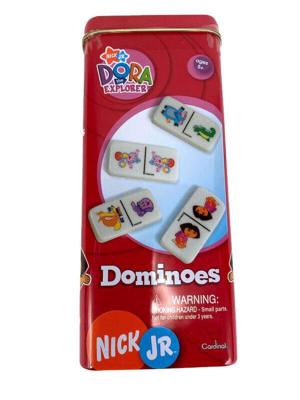Dora the Explorer Dominoes in Tin Box 28 Pieces