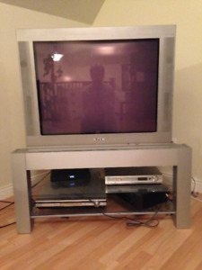 Free Flat Screen Colour TV and Stand