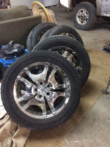 Chrome mags on tire