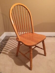 Solid Oak Chairs (4)