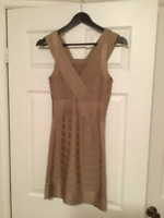 French Connection Gold Bandage Dress Size small