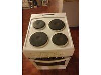 White Amica Single Electric Cooker 50CM