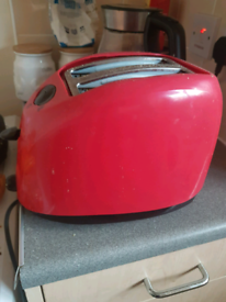 Red 2 slice toaster for sale