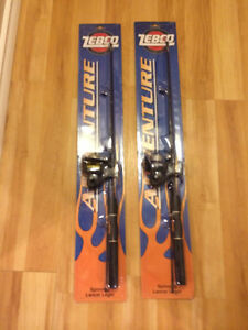 2-2 pc. Zebco fishing rods and reels
