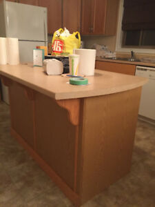 KITCHEN- CABINETS, COUNTERTOPS AND ISLAND