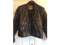 Motorbike RST leather jacket retro